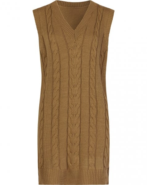 CABLE SPENCER DRESS SAND