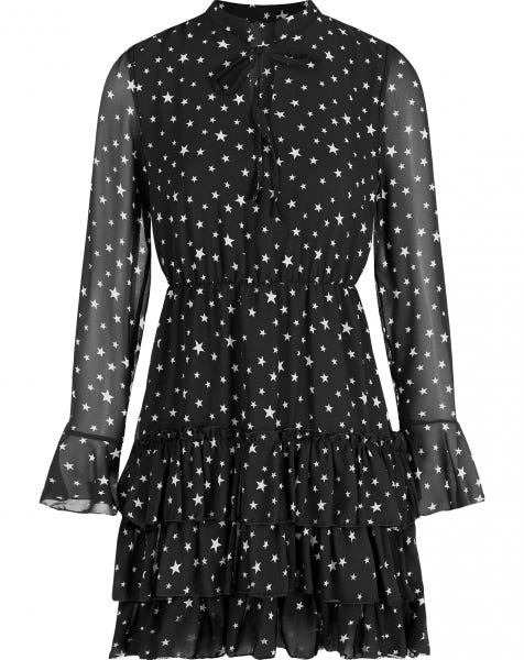 ELLE DRESS BLACK STARS