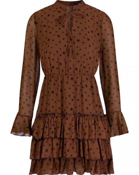 ELLE DRESS CAMEL STARS