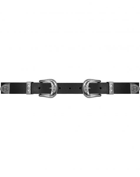 MW DOUBLE BUCKLE BELT BLACK