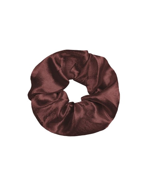 SHINY SCRUNCHIE DEEP RED
