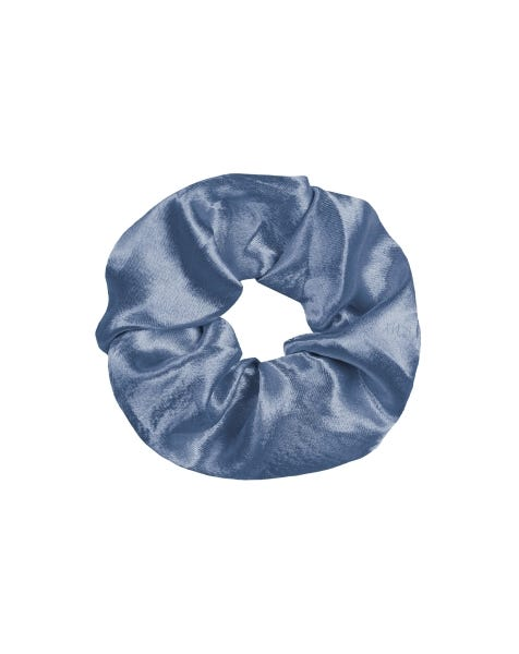 SHINY SCRUNCHIE ICE BLUE
