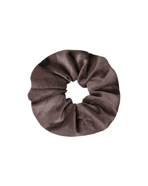 VELVET SCRUNCHIE DARK GREY