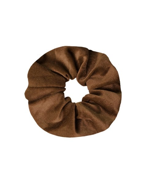 VELVET SCRUNCHIE GOLDEN SAND