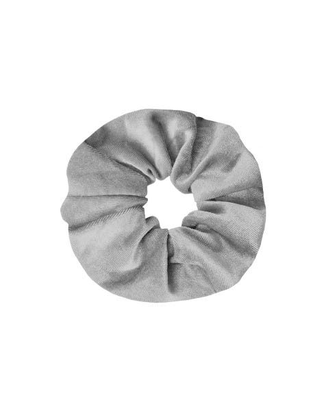 VELVET SCRUNCHIE LIGHT GREY