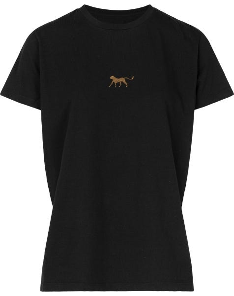 LITTLE CHEETA TEE BLACK