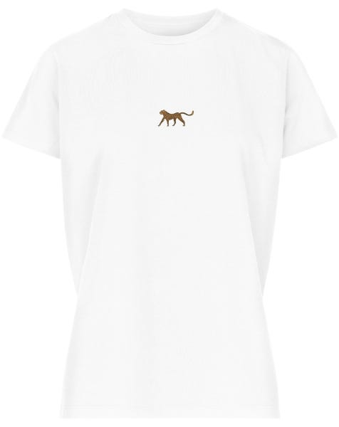 LITTLE CHEETA TEE WHITE