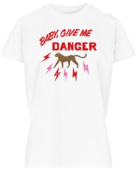 GIVE ME DANGER TEE WHITE