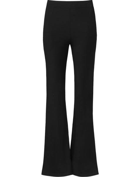 SOFT FLARED PANTS BLACK