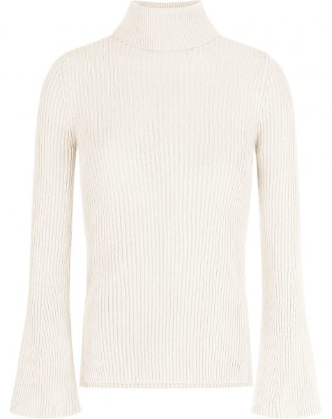 FLARED SLEEVES KNIT CREAM
