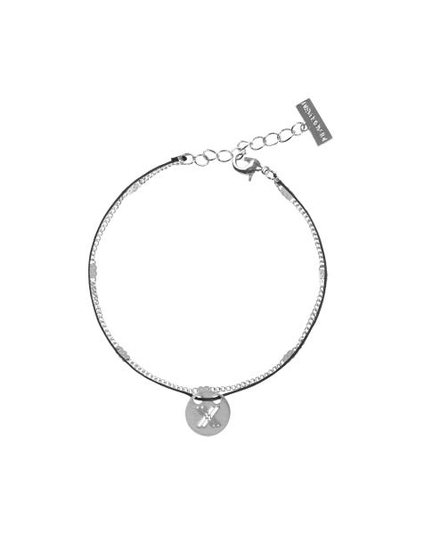 MAKE A STATEMENT BRACELET SILVER BLACK