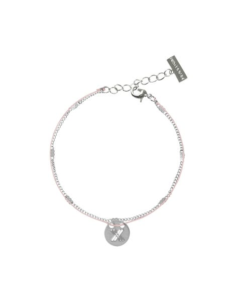 MAKE A STATEMENT BRACELET SILVER PINK