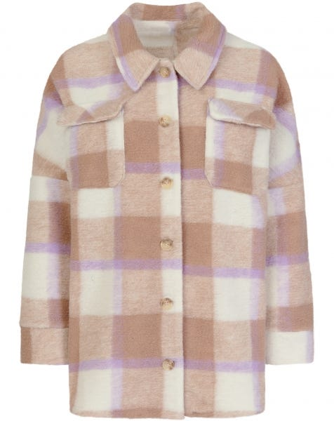 PASTEL LILA CHECK BLOUSE JACKET