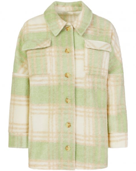 PASTEL MINT CHECK BLOUSE JACKET