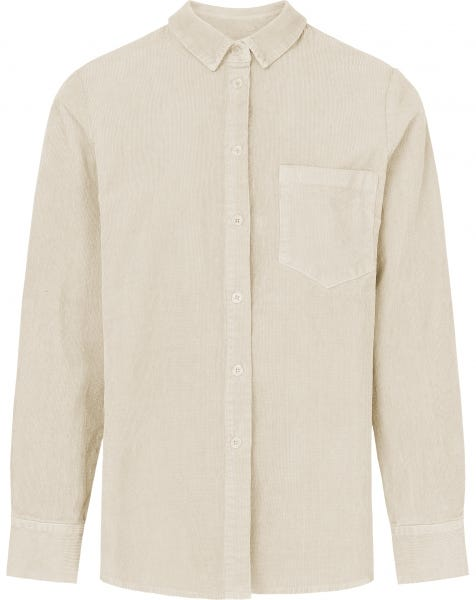 RIBBED CORDUROY BLOUSE CREAM