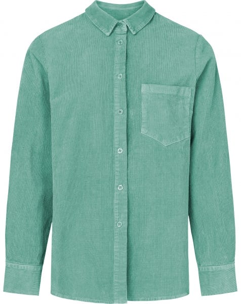 RIBBED CORDUROY BLOUSE MINT
