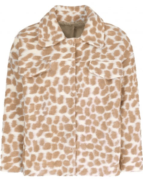 BEIGE CHEETA JACKET