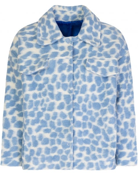 PASTEL BLUE CHEETA JACKET