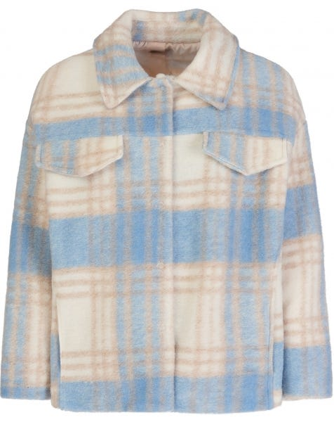PASTEL BLUE CHECK JACKET