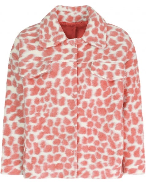 PASTEL PINK CHEETA JACKET