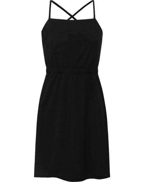 LANA CORD DRESS BLACK
