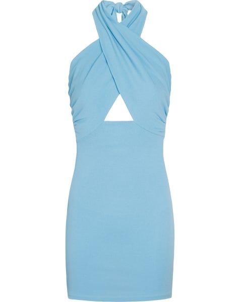 CLEO HALTER DRESS LIGHTBLUE