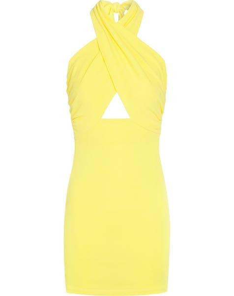 CLEO HALTER DRESS YELLOW