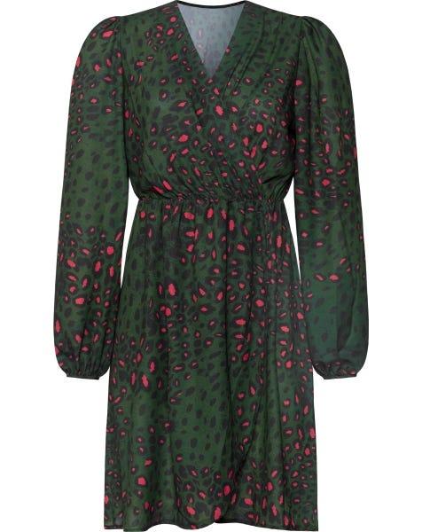 FOXY LEOPARD DRESS GREEN