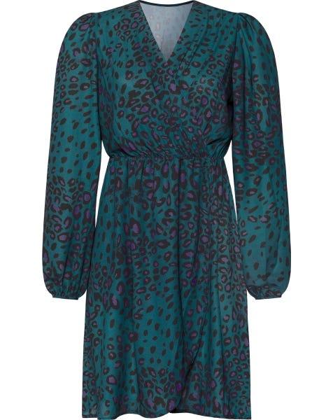 FOXY LEOPARD DRESS SEABLUE