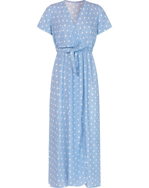 DOTS MAXI DRESS BLUE