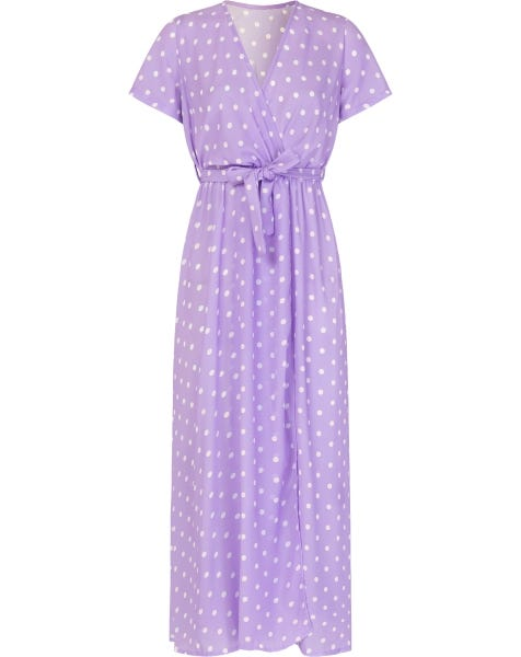 DOTS MAXI DRESS LILA