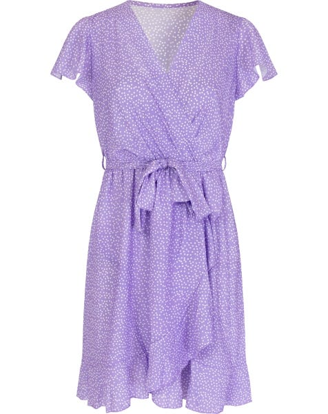 JANE WRAP DRESS LILA