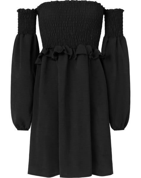 FELINE DRESS BLACK