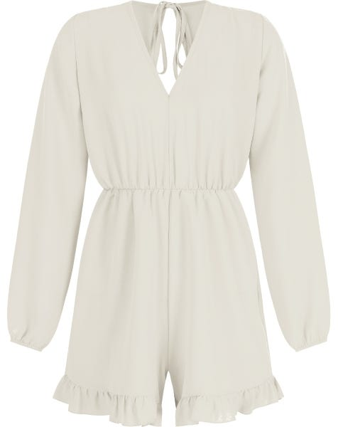 NOELLE PLAYSUIT BEIGE