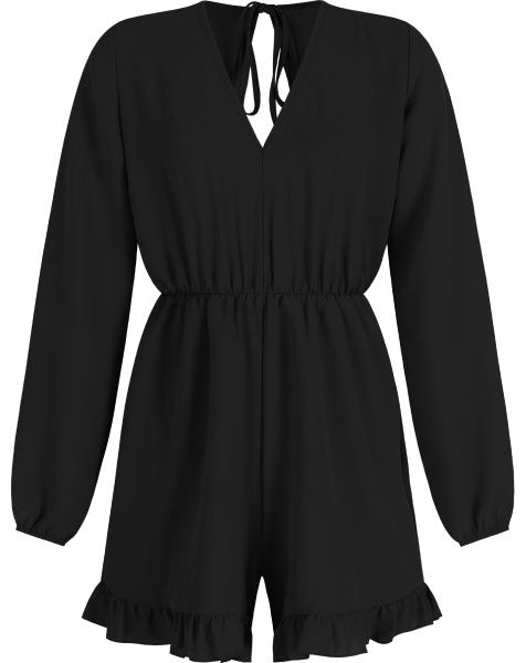 NOELLE PLAYSUIT BLACK