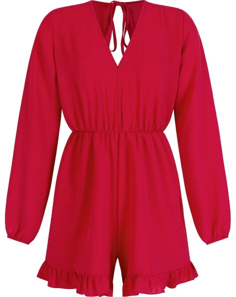 NOELLE PLAYSUIT RED