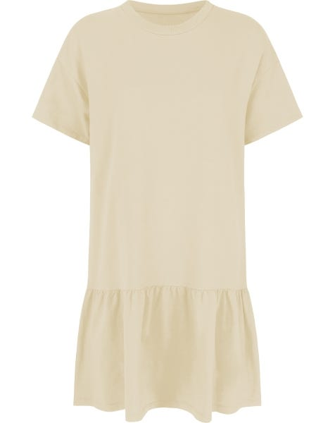 TSHIRT DRESS BEIGE