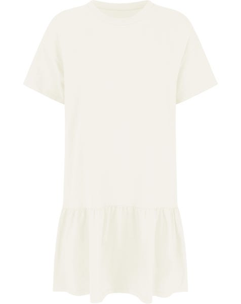 TSHIRT DRESS CREAM