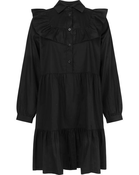DANI POPLIN DRESS BLACK