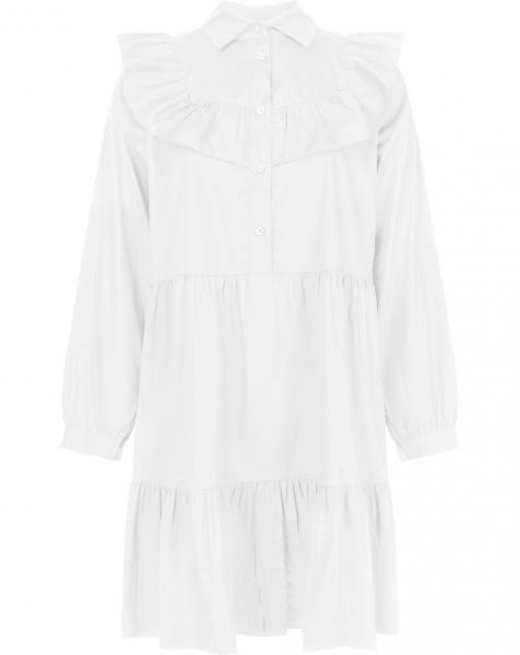 DANI POPLIN DRESS WHITE