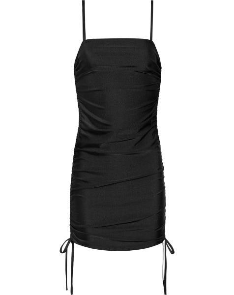 NORI LACE UP DRESS BLACK