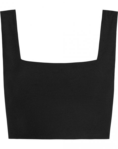 TERRY CLOTH TOP BLACK