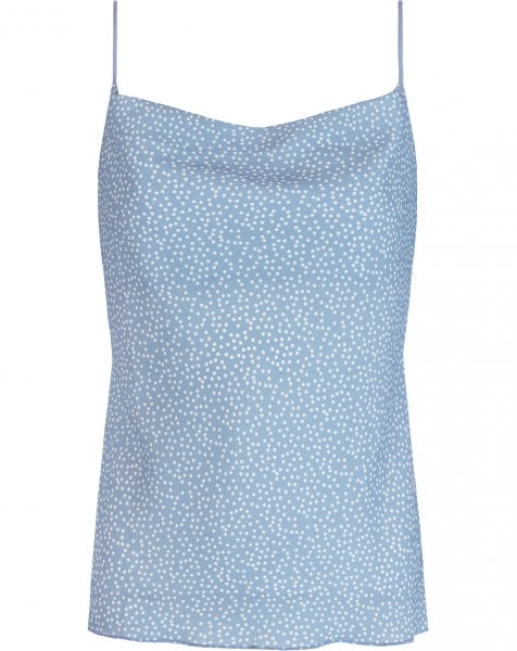 MITZY DOTS TOP BLUE