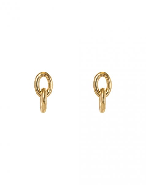 CHAIN OF LOVE EARRINGS GOLD