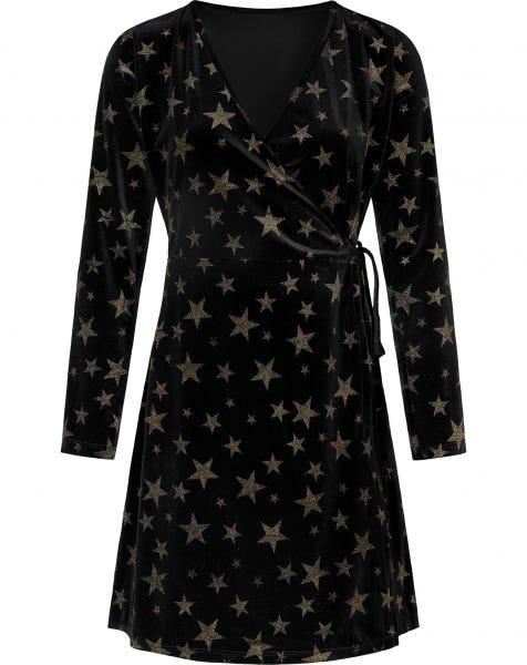 EMMA STARS DRESS BLACK
