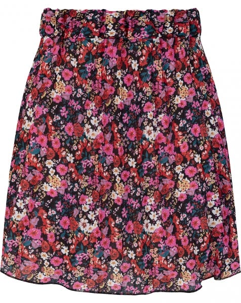 PLISSÉ FLOWER SKIRT