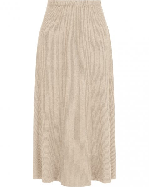 GRACE MIDI SKIRT BEIGE