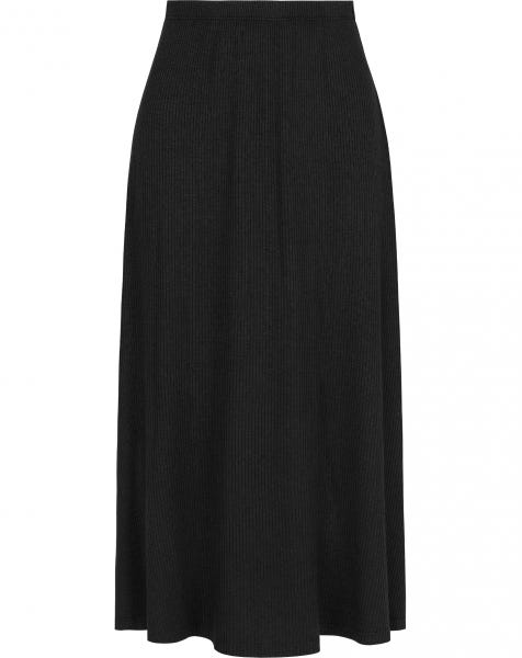 GRACE MIDI SKIRT BLACK