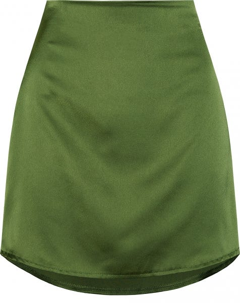 CLAIRE SATIN SKIRT OLIVE