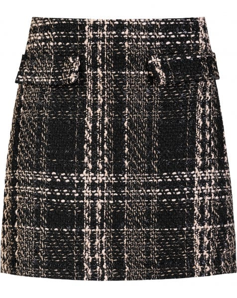 BELLA TWEED SKIRT BEIGE